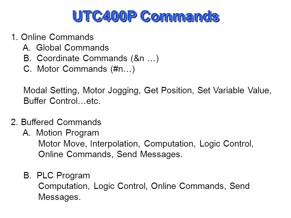 UTC400P Variables 1. I-Variables Initialization and Setup