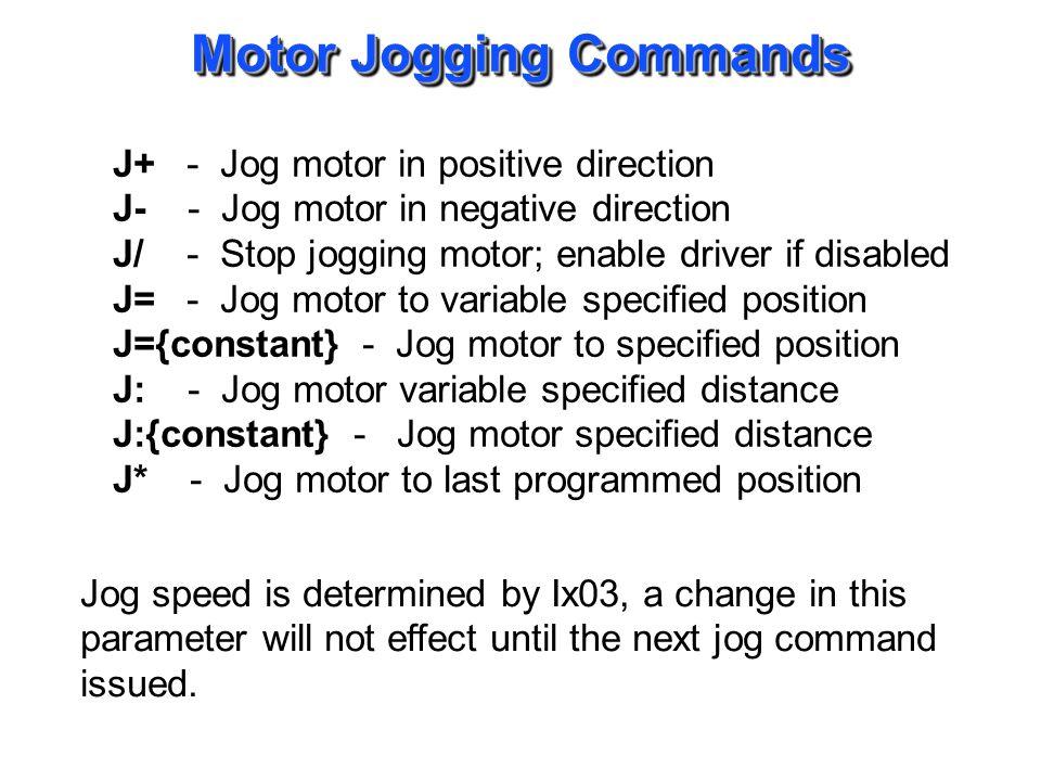Motor Jogging Examples