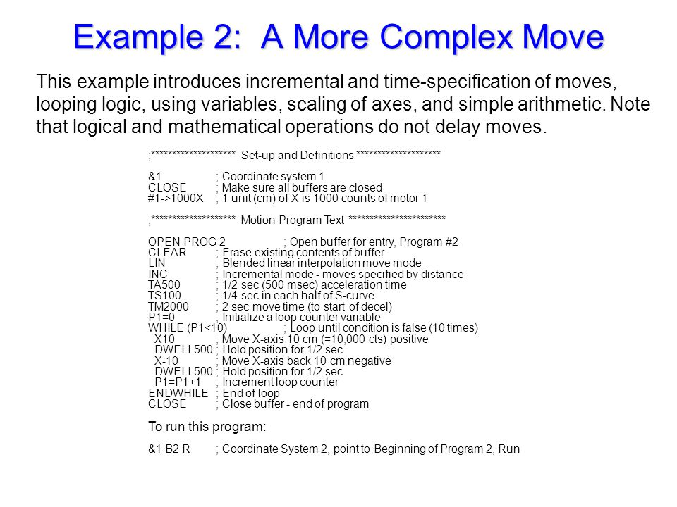 Example 2: A More Complex Move