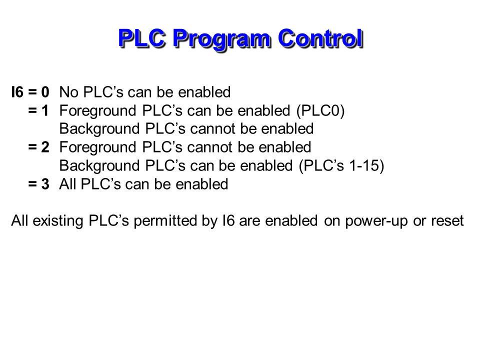 PLC Program Control (continue)