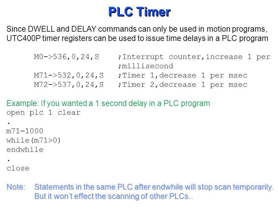 PLC COUNTER DELAY Start Read Other PLC s Variable = Initial Value