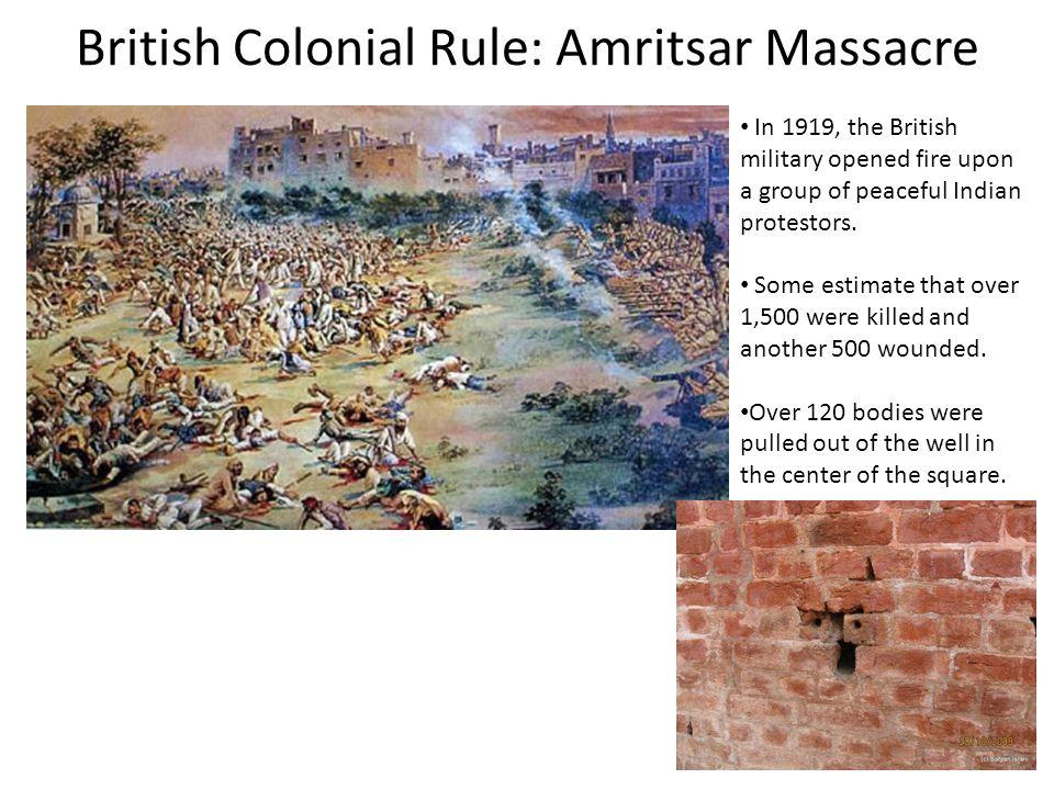 British Colonial Rule: Amritsar Massacre