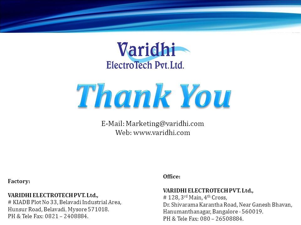 E-Mail: Marketing@varidhi.com