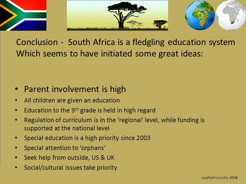 essay on south african education system The author grew up during the system of racial this is a sample essay on apartheid in south africa essay on apartheid in south africa essay on.