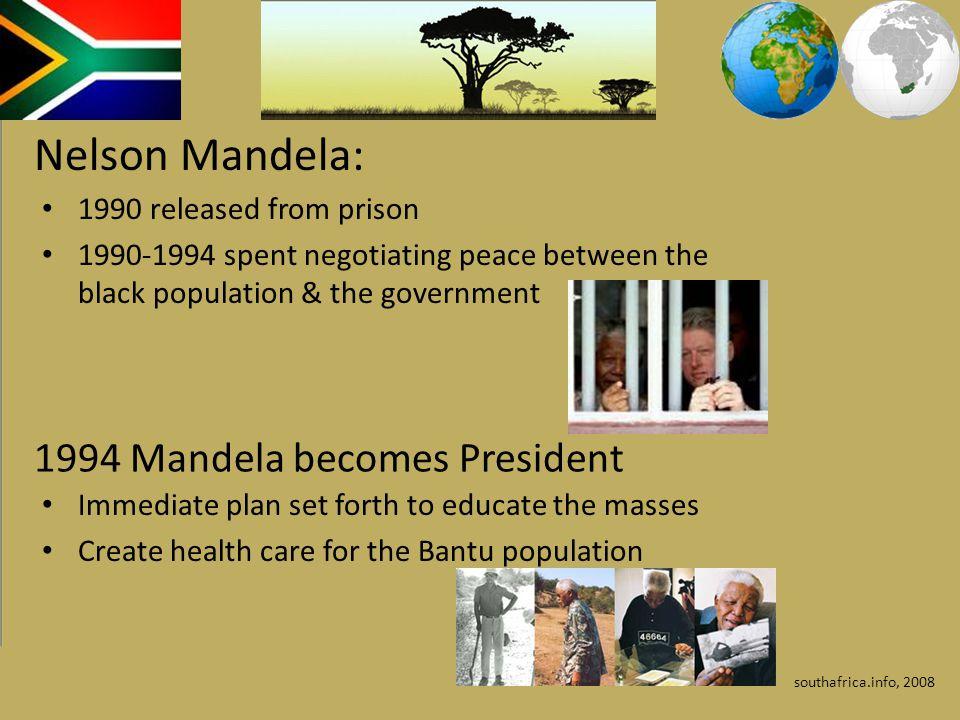 Nelson Mandela: 1994 Mandela becomes President