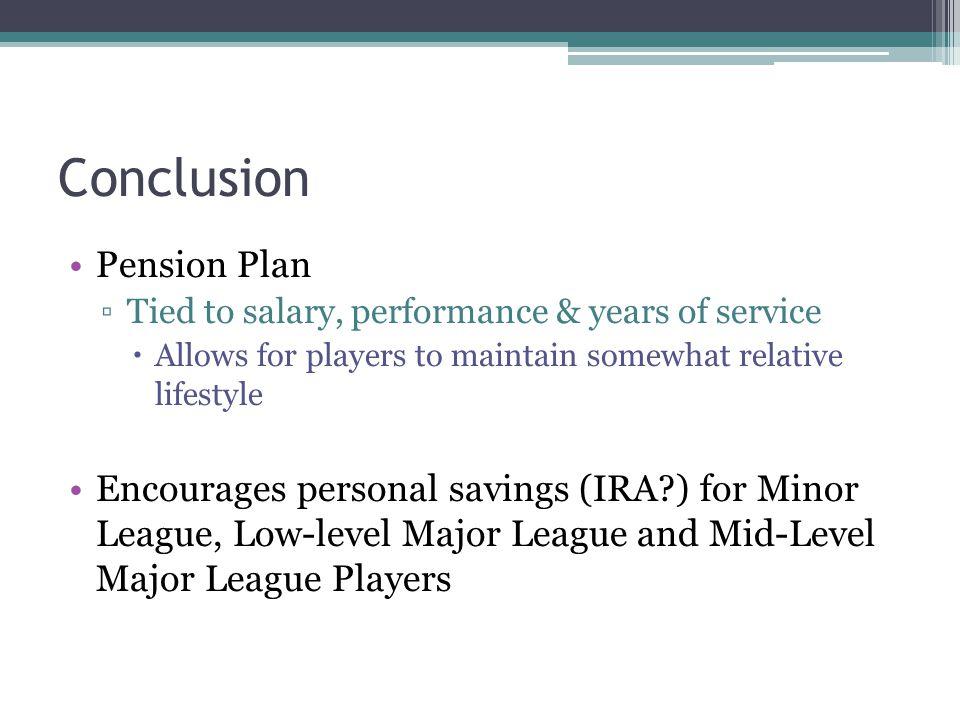 Conclusion Pension Plan