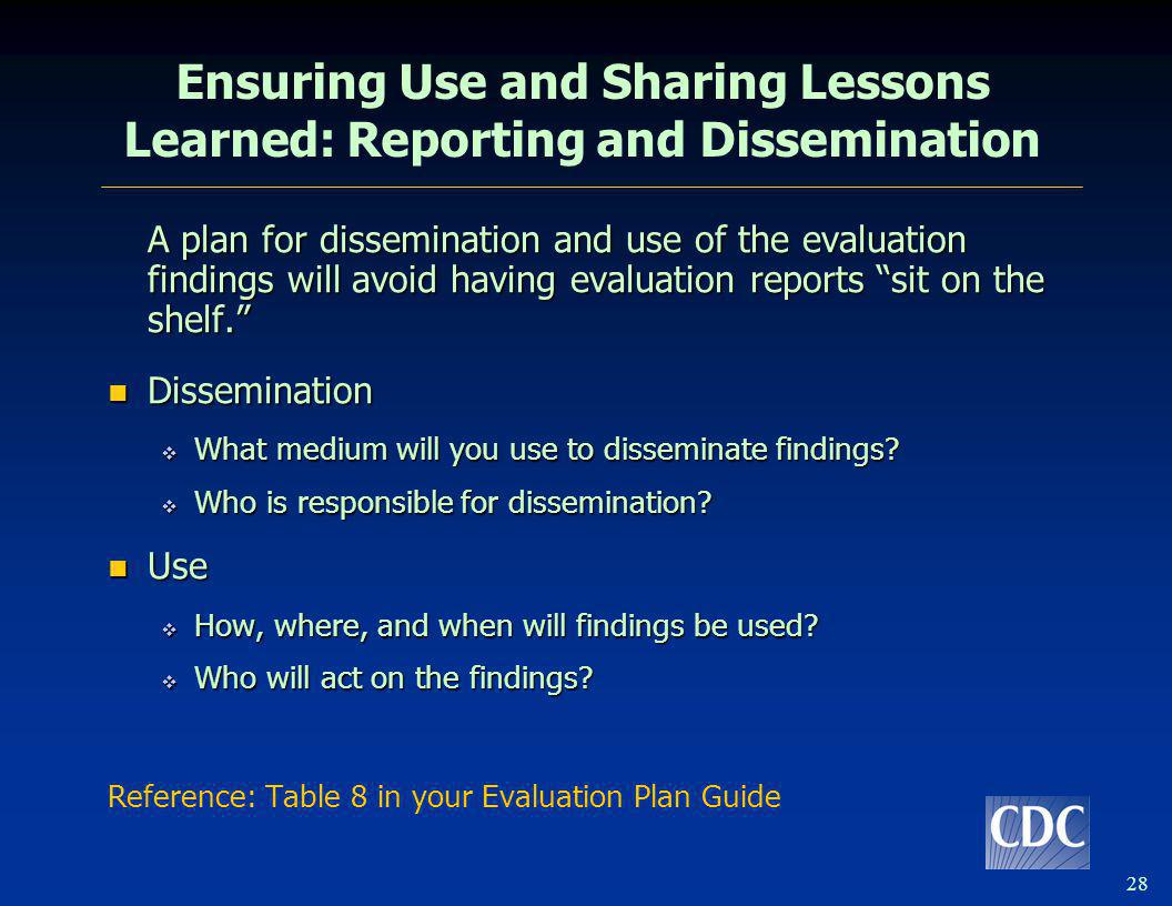 Tips for Evaluation Planning
