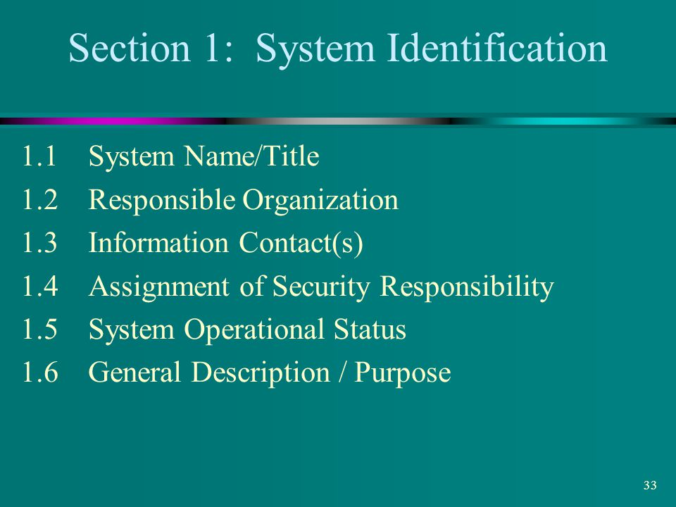 Section 1: System Identification