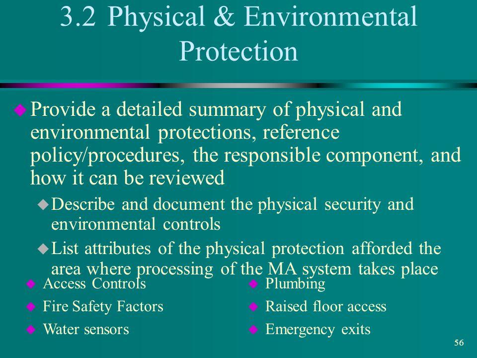 3.2 Physical & Environmental Protection