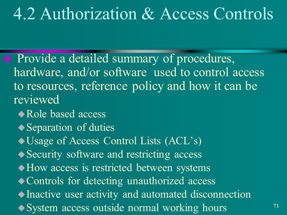4.2 Authorization & Access Controls