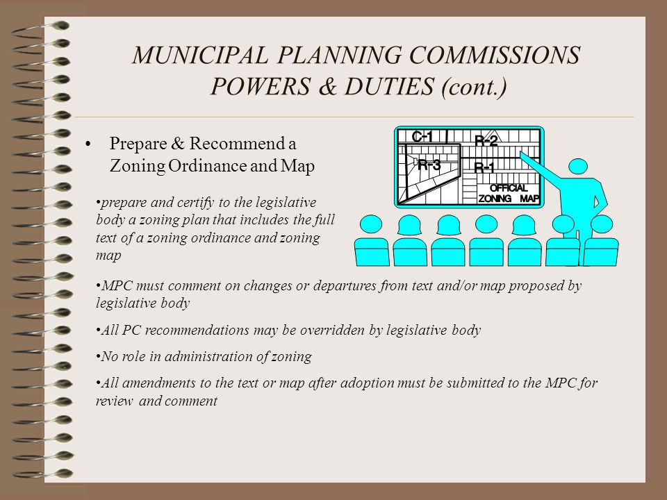 MUNICIPAL PLANNING COMMISSIONS POWERS & DUTIES (cont.)