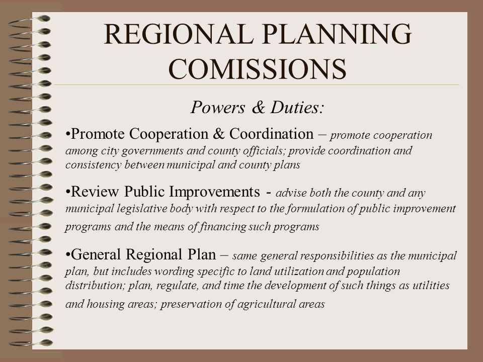 REGIONAL PLANNING COMISSIONS