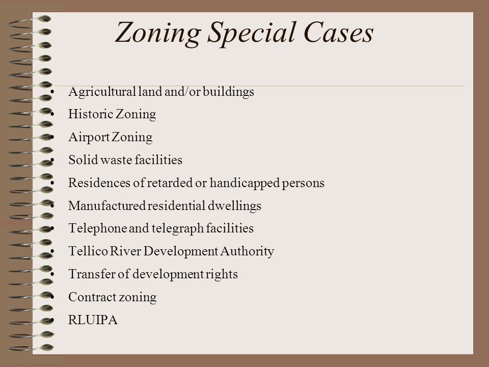 Zoning Special Cases Agricultural land and/or buildings