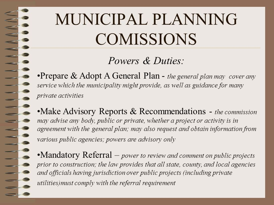 MUNICIPAL PLANNING COMISSIONS