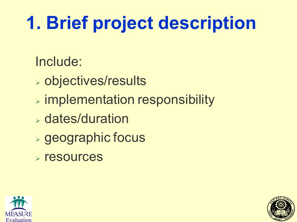 1. Brief project description