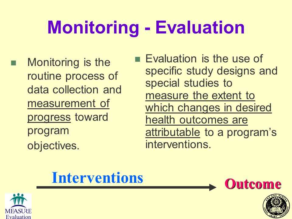 Monitoring - Evaluation