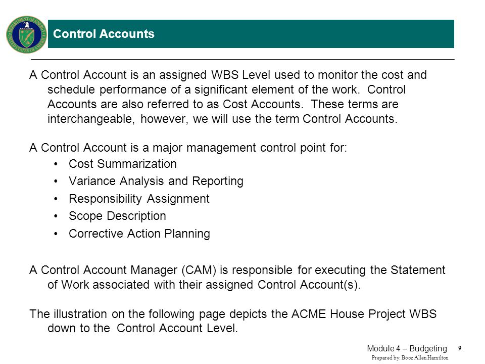 Control Accounts