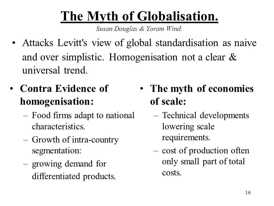 The Myth of Globalisation. Susan Douglas & Yoram Wind.