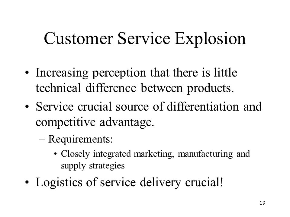 Customer Service Explosion