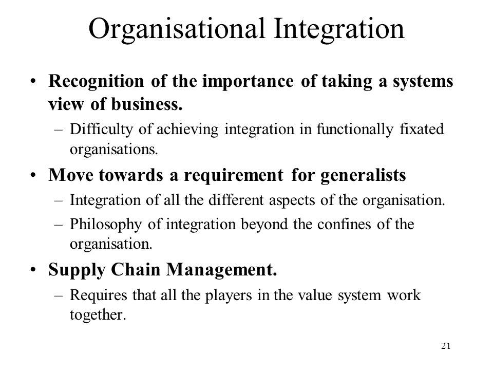 Organisational Integration