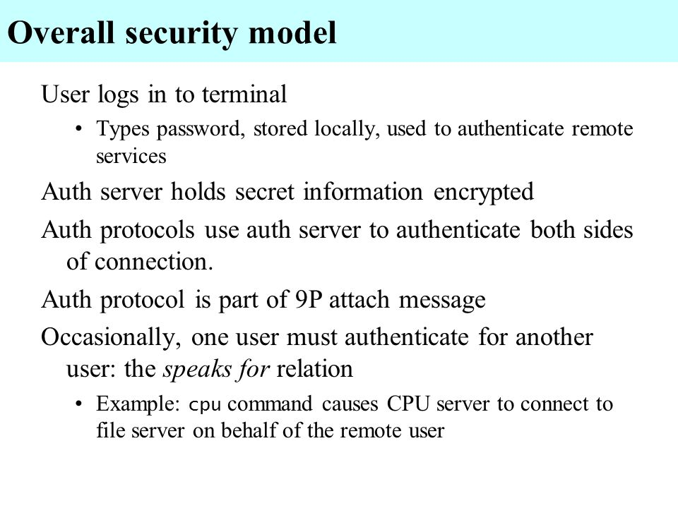 Overall security model