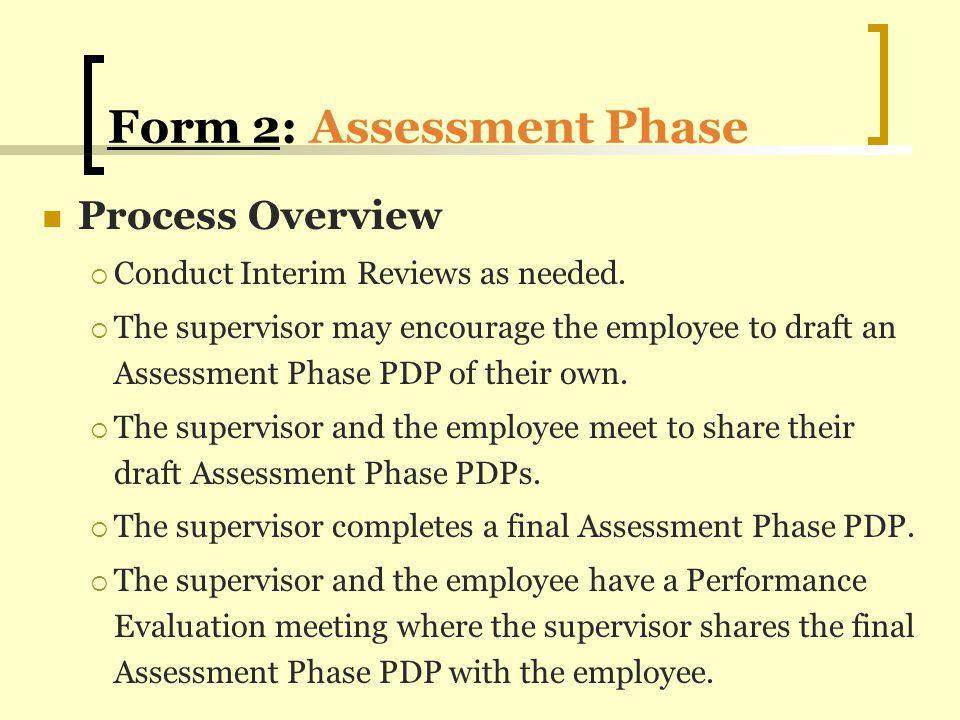 Form 2: Assessment Phase