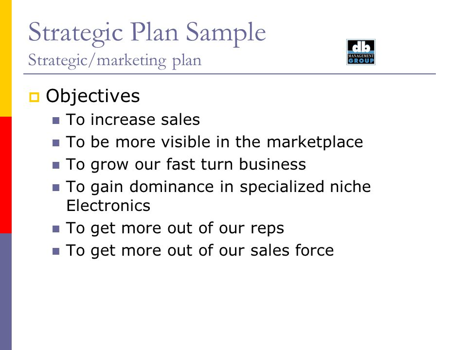 Strategic Plan Sample Strategic/Marketing Plan August Ppt Video