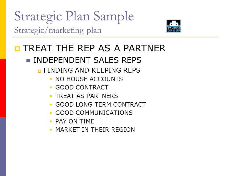 sample business plan for sales representatives