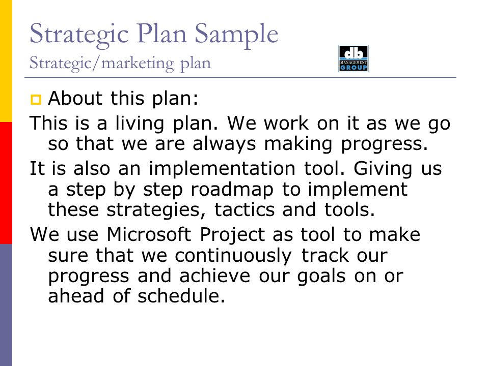 Strategic Plan Sample StrategicMarketing Plan August Ppt Video