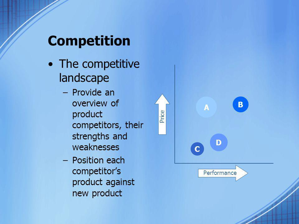 Competition The competitive landscape