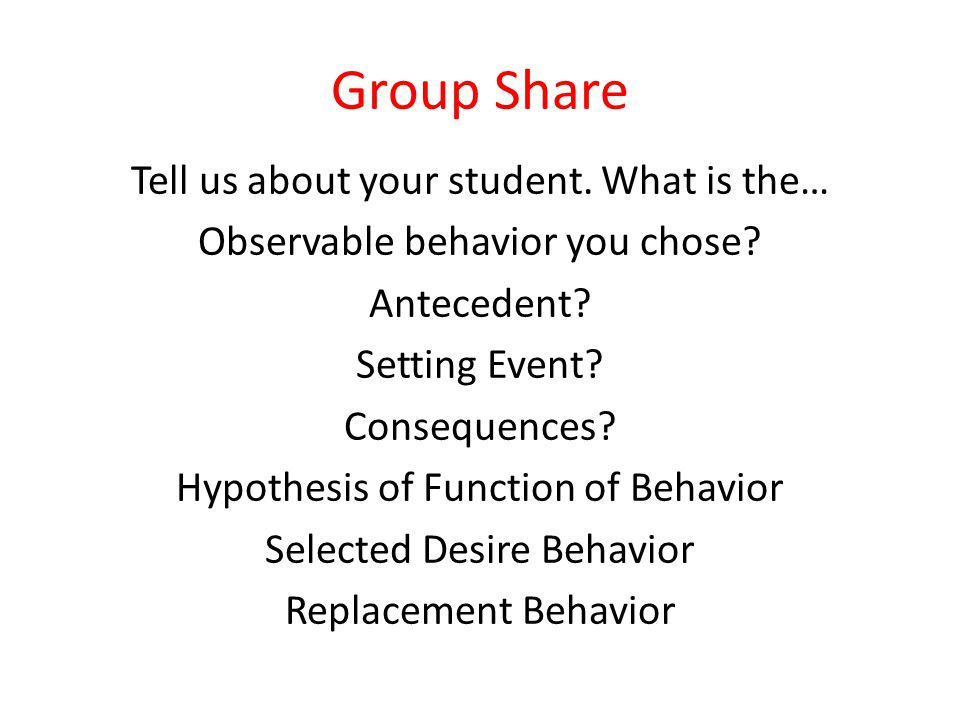 Group Share Tell us about your student. What is the…