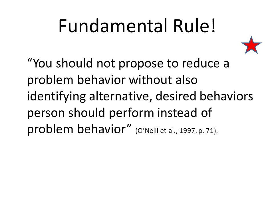 Fundamental Rule!
