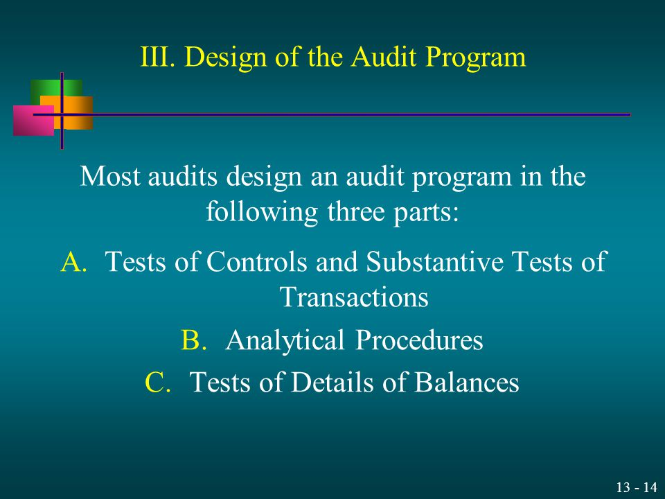 III. Design of the Audit Program