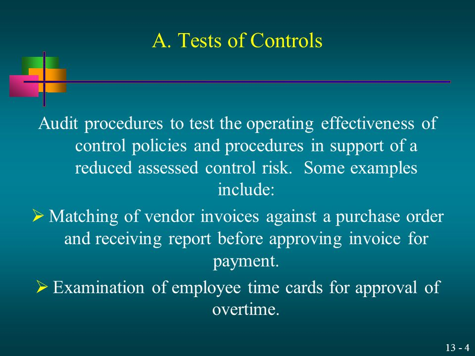 Examination of employee time cards for approval of overtime.