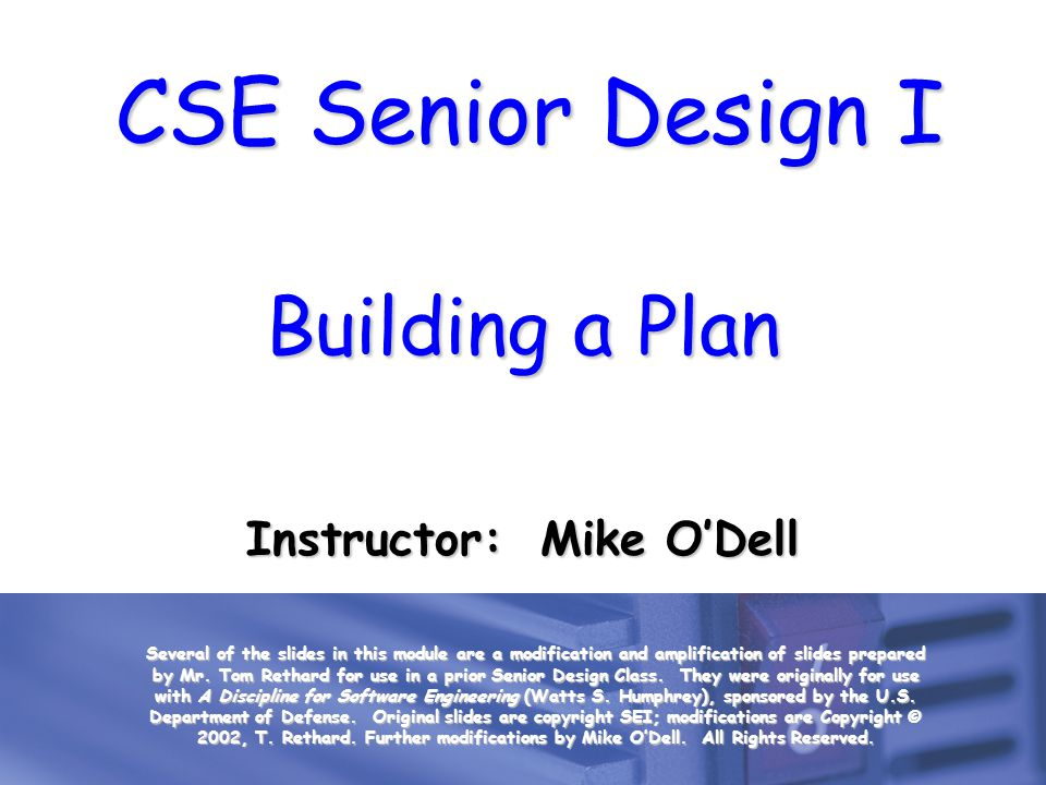Instructor: Mike O'Dell