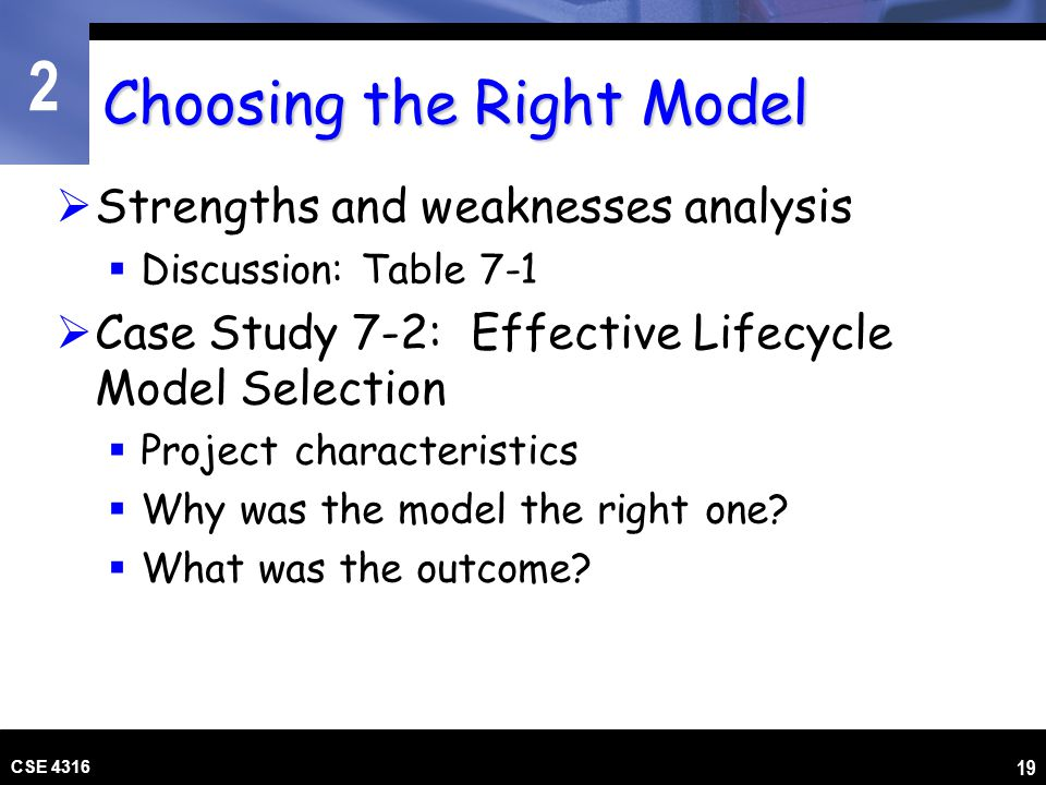 Choosing the Right Model