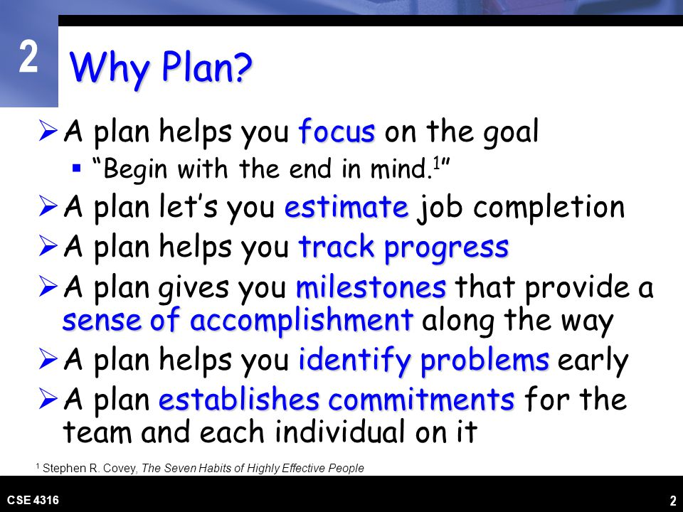 Why Plan A plan helps you focus on the goal