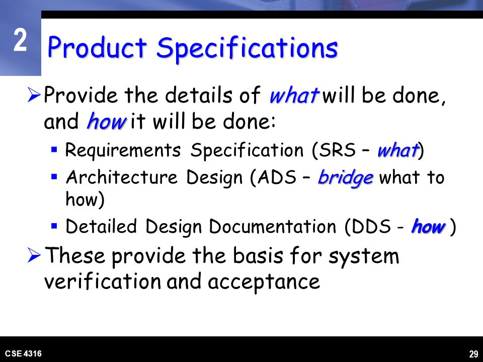 Product Specifications