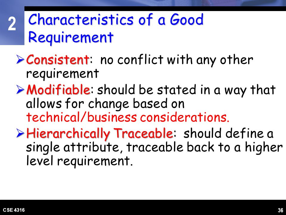 Characteristics of a Good Requirement
