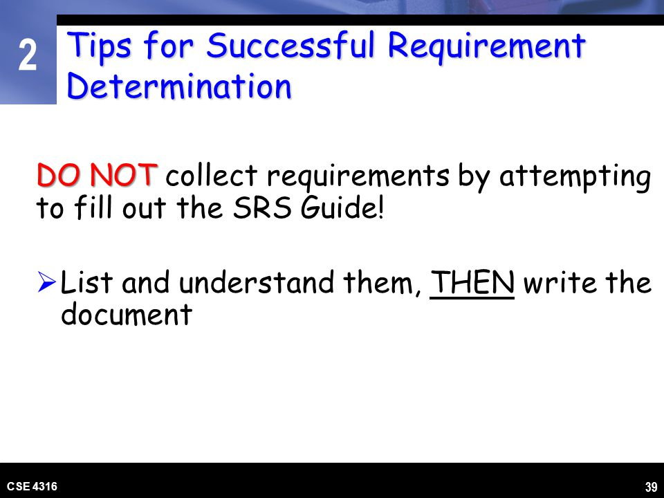 Tips for Successful Requirement Determination