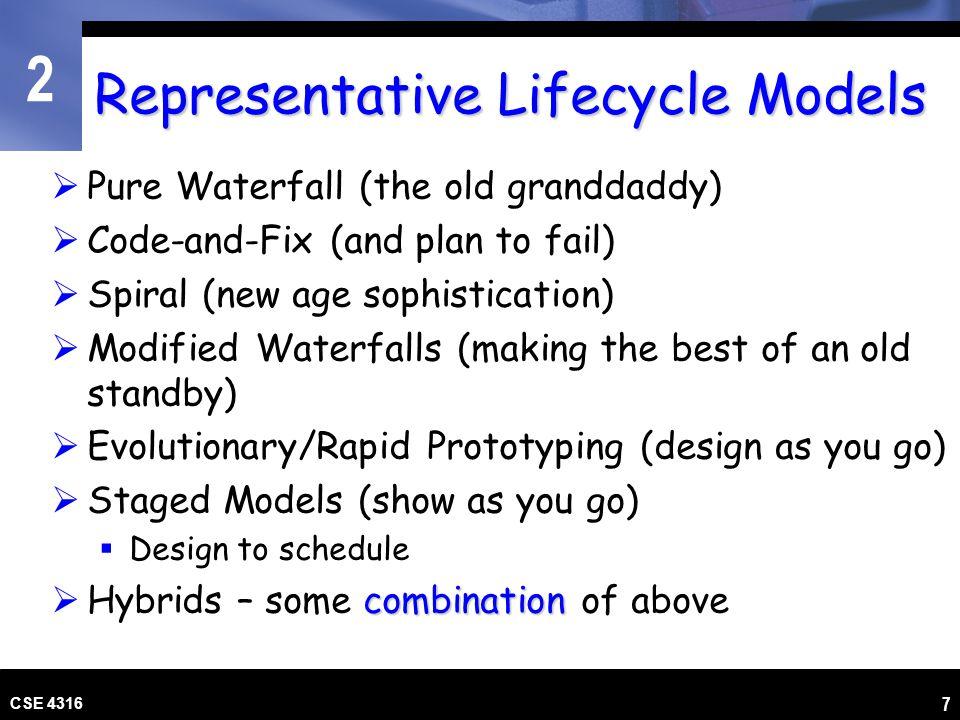 Representative Lifecycle Models