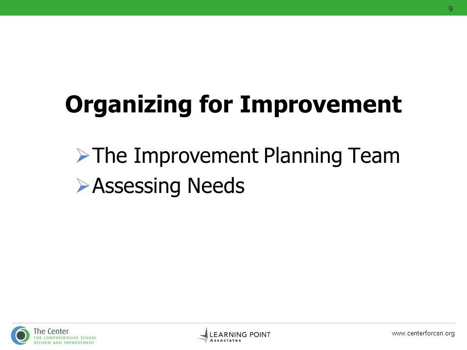 Organizing for Improvement