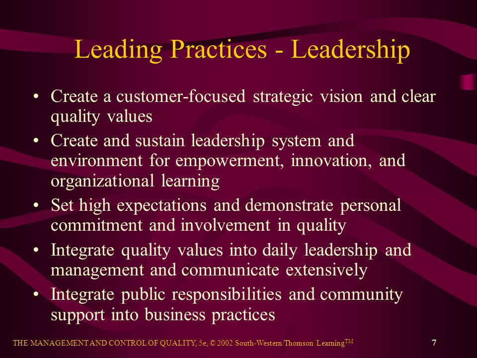 Leading Practices - Leadership