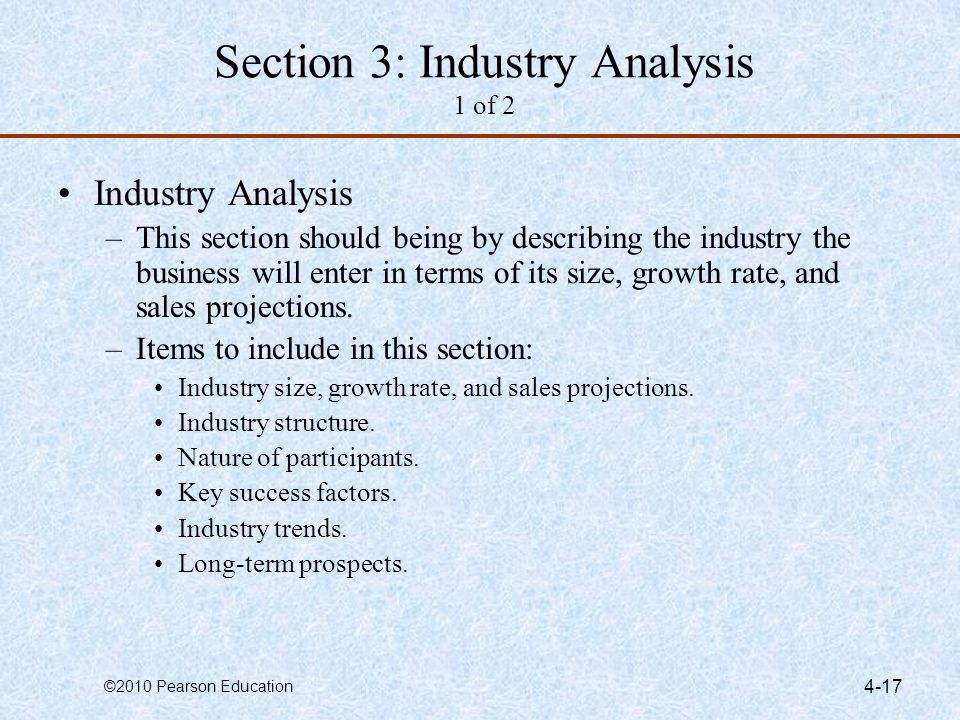 Section 3: Industry Analysis 1 of 2