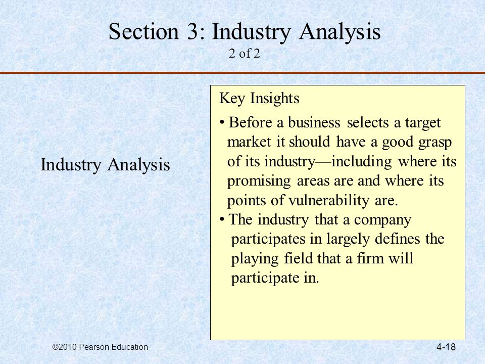 Section 3: Industry Analysis 2 of 2