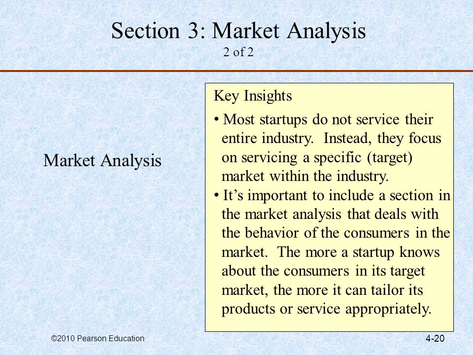 Section 3: Market Analysis 2 of 2