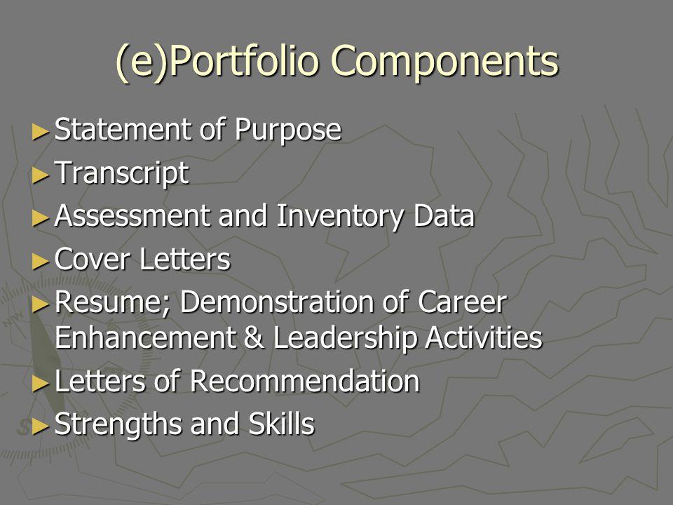 (e)Portfolio Components