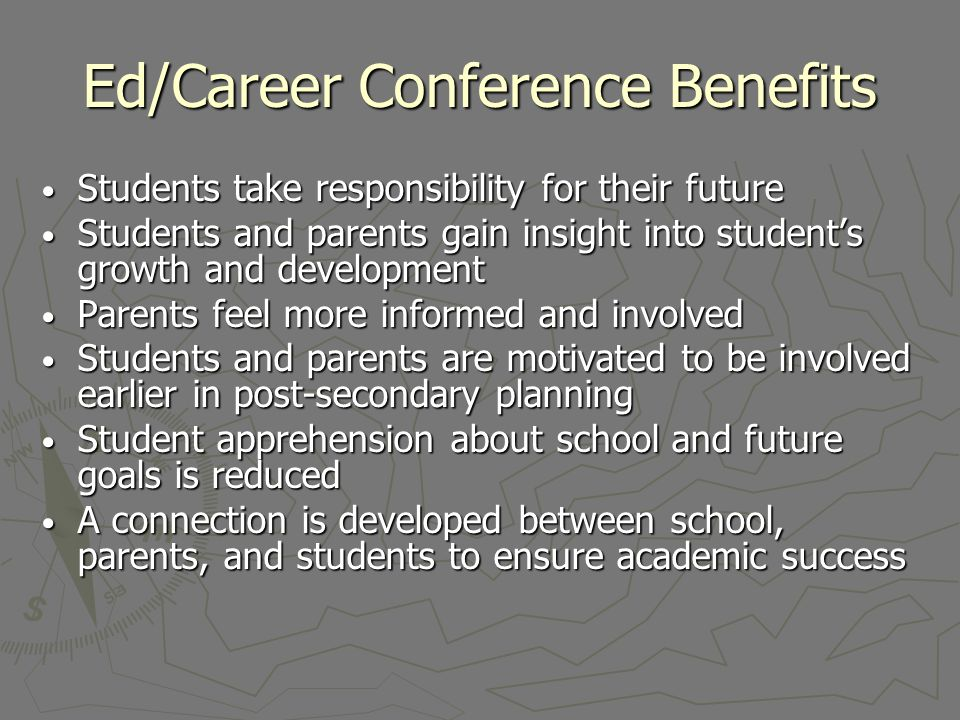 Ed/Career Conference Benefits