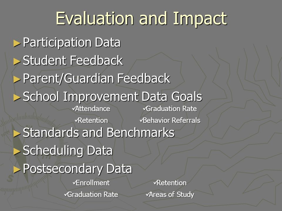 Evaluation and Impact Participation Data Student Feedback