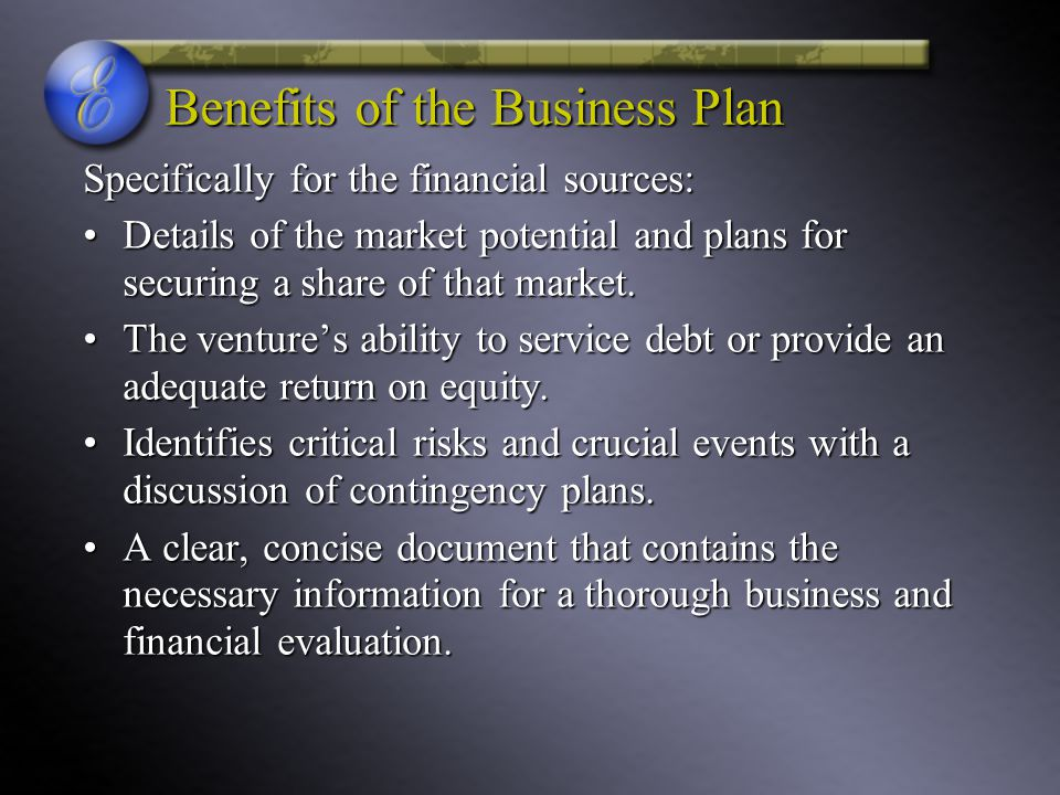 Benefits of the Business Plan